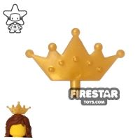 Product shot LEGO - Crown Tiara - Pearl Gold