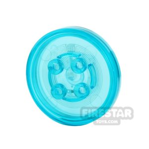 Product shot LEGO Dimensions Toy Tag - Plain Tag - Trans Light Blue