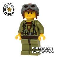 Product shot LEGO Dino Mini Figure - Hero - Helicopter Pilot
