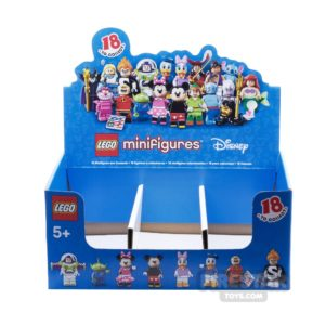 Product shot LEGO - Disney Minifigures Collectable Shop Display Box