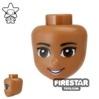 Product shot LEGO Disney Princess Mini Figure Heads - Brown Eyes and Open Smile