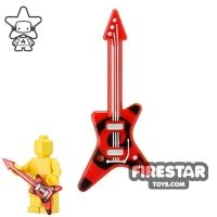 Product shot LEGO - Electric Guitar - Red and Black