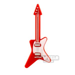 Product shot LEGO Electric Guitar Red and White