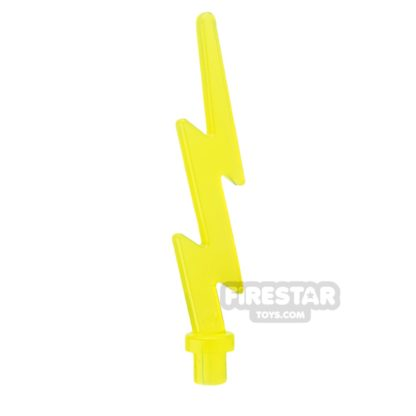 Product shot LEGO - Electric Power Bolt - Trans Yellow