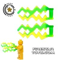 Product shot LEGO -  Electric Power Bolts - Green pair