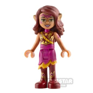 Product shot LEGO Elves Mini Figure - Azari Firedancer - Armoured Top