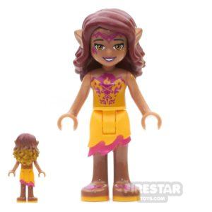 Product shot LEGO Elves Mini Figure - Azari Firedancer - Bright Light Orange