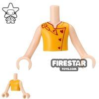 Product shot LEGO Elves Mini Figure Torso - Orange Top