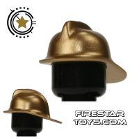 Product shot LEGO - Fireman Helmet - Gold