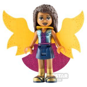 Product shot LEGO Friends Mini Figure - Andrea - Butterfly Cape