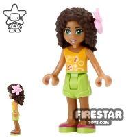 Product shot LEGO Friends Mini Figure - Andrea - Flower in Hair