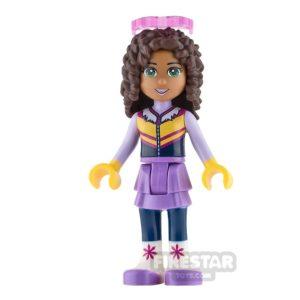 Product shot LEGO Friends Mini Figure - Andrea - Lavender Skirt and Ski Vest