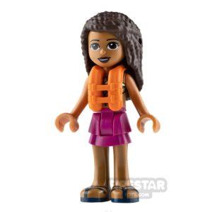 Product shot LEGO Friends Mini Figure - Andrea - Magenta Layered Skirt