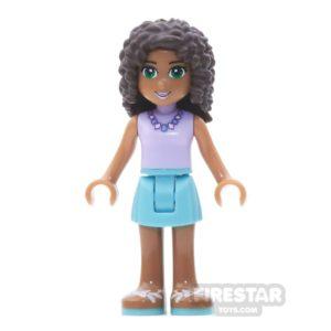 Product shot LEGO Friends Mini Figure - Andrea - Medium Azure Skirt