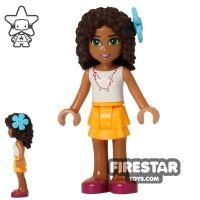Product shot LEGO Friends Mini Figure - Andrea - Orange Skirt