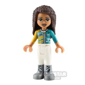 Product shot LEGO Friends Mini Figure - Andrea - Racing Jacket