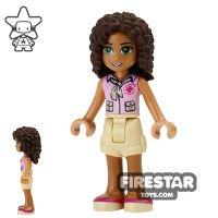 Product shot LEGO Friends Mini Figure - Andrea - Red Cross Top