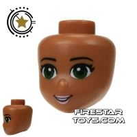 Product shot LEGO Friends Mini Figure Heads - Green Eyes and Pale Pink Lips