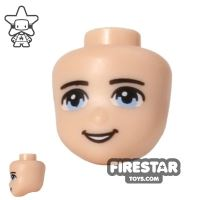 Product shot LEGO Friends Mini Figure Heads - Light Blue Eyes