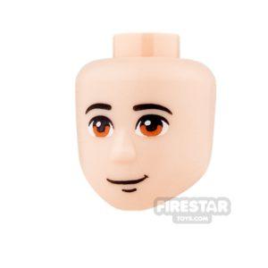 Product shot LEGO Friends Mini Figure Heads - Orange Eyes and Half Smile
