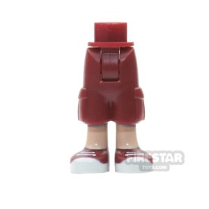 Product shot LEGO Friends Mini Figure Legs - Dark Red Cropped trousers and Trainers