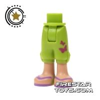 Product shot LEGO Friends Mini Figure Legs - Green Cropped Shorts