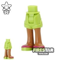 Product shot LEGO Friends Mini Figure Legs - Lime Shorts and Sandals