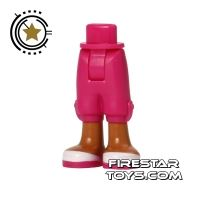 Product shot LEGO Friends Mini Figure Legs - Magenta Cropped Trousers