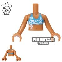 Product shot LEGO Friends Mini Figure Torso - Bikini - Dark Azure