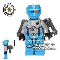 Product shot LEGO Galaxy Squad Mini Figure - Robot Sidekick with Jet Pack - Dark Azure