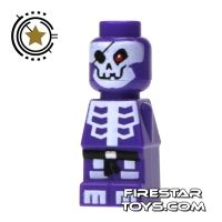 Product shot LEGO Games Microfig - Ninjago Skeleton - Purple