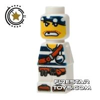 Product shot LEGO Games Microfig - Plank Pirate White