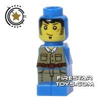 Product shot LEGO Games Microfig - Ramses Return Adventurer - Blue