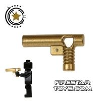 Product shot LEGO Gun - Golden Handgun