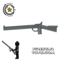 Product shot LEGO Gun - Rifle - Dark Blueish Gray