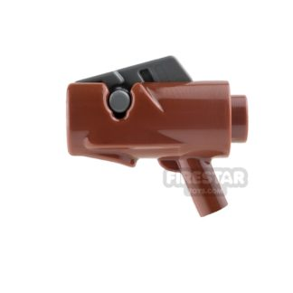 Product shot LEGO Gun - Star Wars Firing Blaster - Reddish Brown