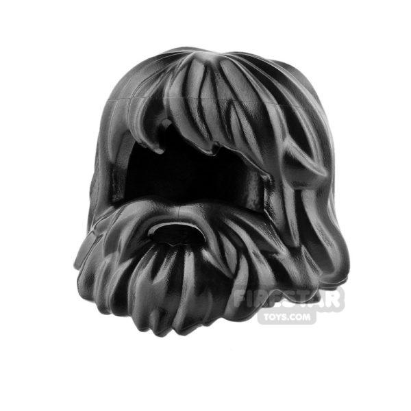 Product shot LEGO Hair - Caveman Hair - Black