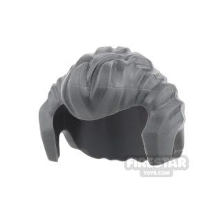 Product shot LEGO Hair - Sideburns and Widow's Peak - Dark Blueish Gray