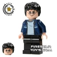 Product shot LEGO Harry Potter Mini Figure -  Harry Potter - Blue Jacket Black Legs