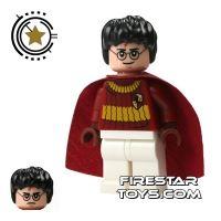 Product shot LEGO Harry Potter Mini Figure -  Harry Potter - Dark Red Quidditch Uniform