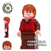 Product shot LEGO Harry Potter Mini Figure -  Ron Weasley - Tartan And Brown Legs