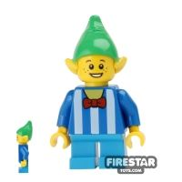 Product shot LEGO Holiday Mini Figure - Elf - Striped Top and Bow Tie