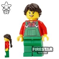 Product shot LEGO Holiday Mini Figure - Farmer - Braided Hair