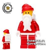 Product shot LEGO Holiday Mini Figure - Santa - Father Christmas White Backpack