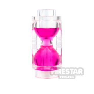 Product shot LEGO - Hourglass - Trans-Dark Pink
