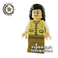 Product shot LEGO Indiana Jones Mini Figure - Marion Ravenwood Tan Outfit
