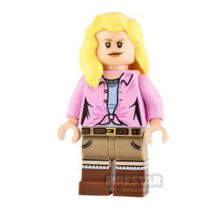 Product shot LEGO Jurassic World Figure Ellie Sattler Hair Over Shoulder