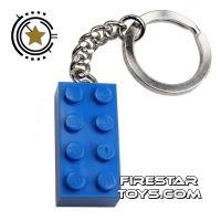 Product shot LEGO Key Chain - Classic - Blue Brick
