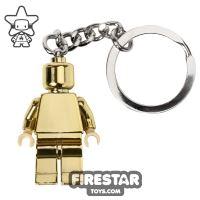 Product shot LEGO Key Chain - Classic - Gold Minifigure