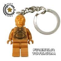 Product shot LEGO Key Chain - Star Wars - C-3PO